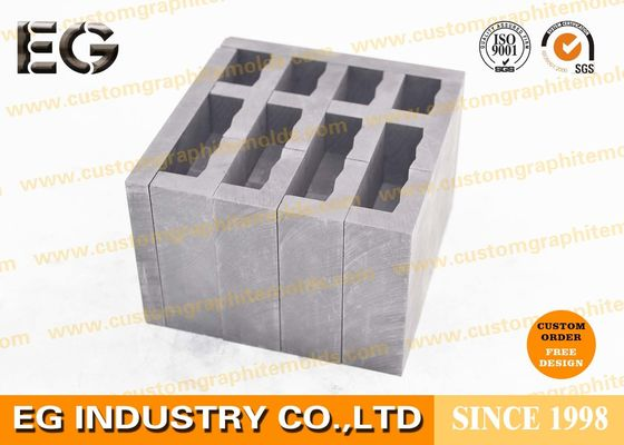 "China 1/2"" OZ High Density Graphite Ingot Mold , Durable Glass Drilling Tools Graphite Gauge Mold supplier"