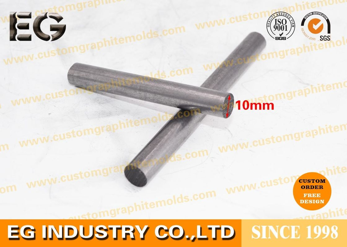Custom Size Graphite Rod Electrodes , 65 Mpa Compressive Strength