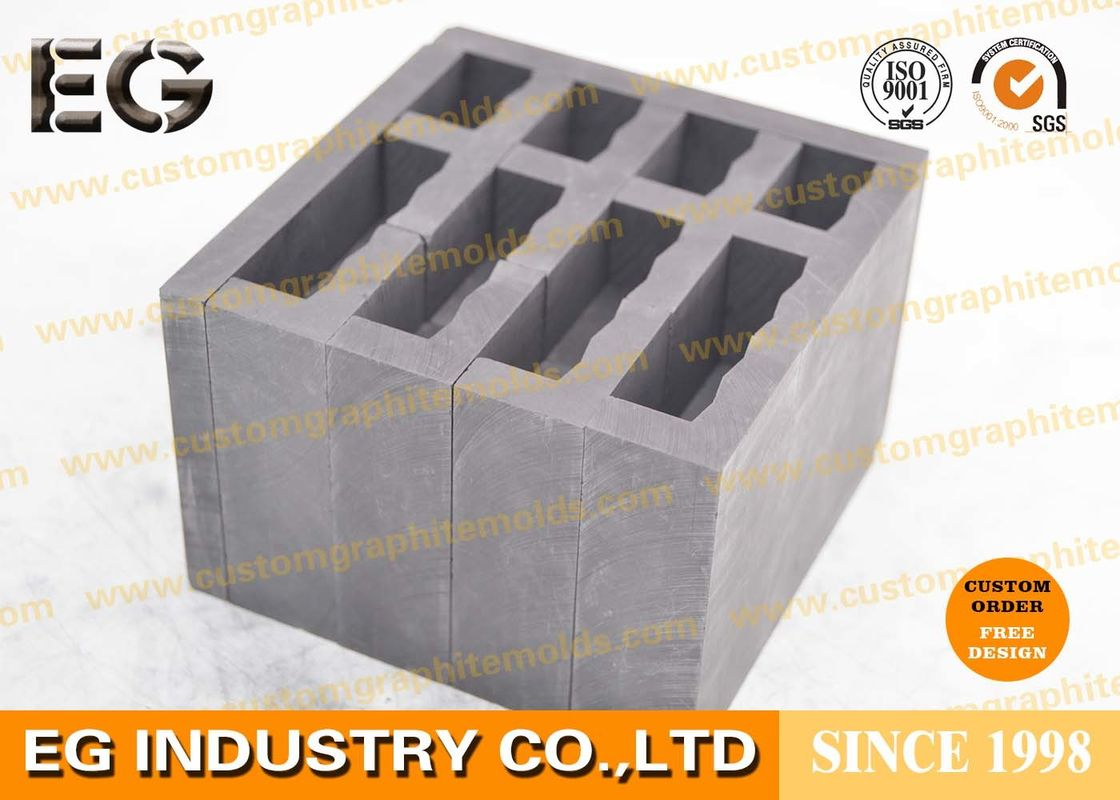 Sintered Extruded Press Custom Graphite Molds 65 Mpa Compressive