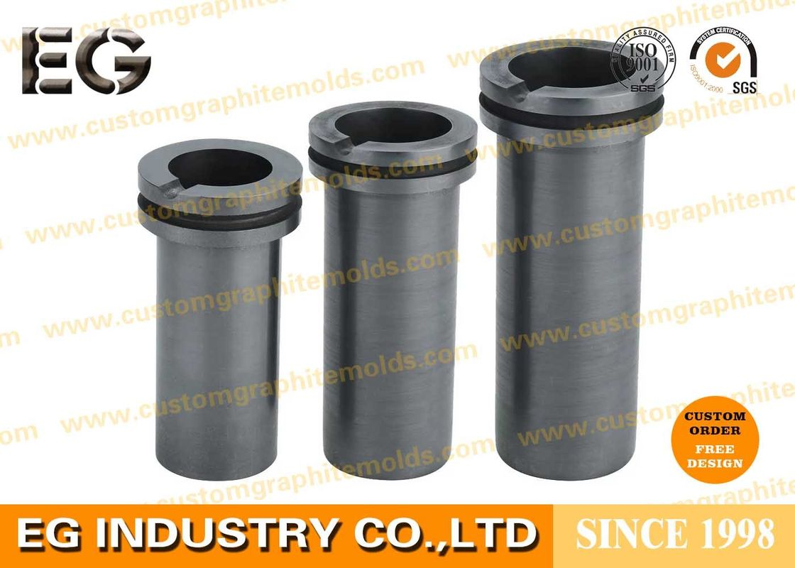 High Purity Carbon Graphite Crucible Copper Gold Machined
