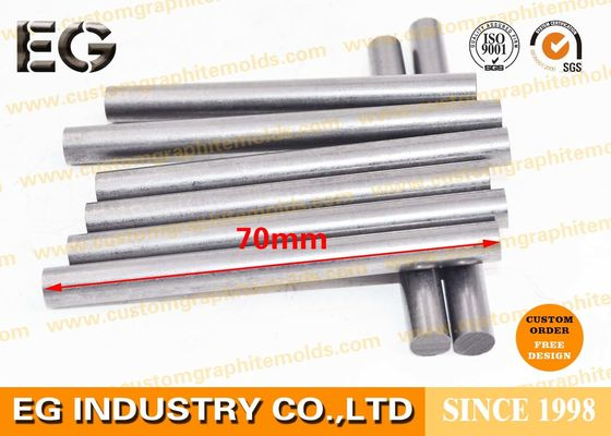 "China 0.25"" OD X 12"" L Fine Extruded Graphite Rod , Low Ash Graphite Round Bar factory"