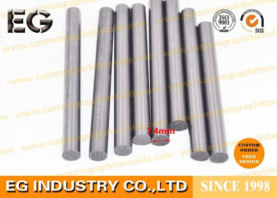 Stirring Carbon Graphite Rods Extruded Press Customized Design ISO19000 Accepted 7.4mm custom diameter length